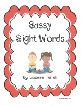 Sight Words Activity