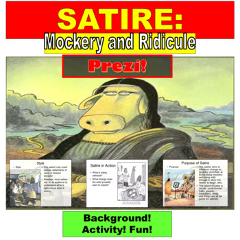 Satire : Prezi Presentation Lesson and Exercises