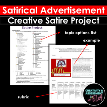 Satire - A Satirical Advertisement Project - Common Core Aligned