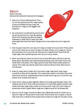 Saturn - Informational Text Test Prep