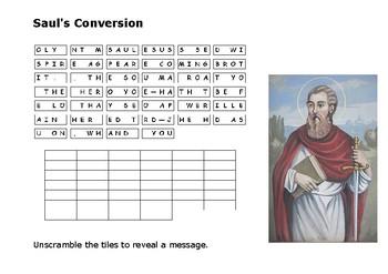 Saul's Conversion Message Puzzle