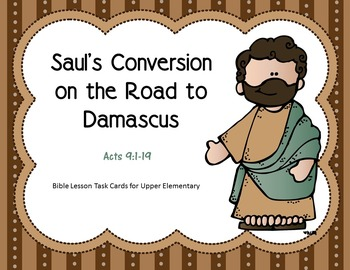Saul's Conversion on the Road to Damascus Task Cards