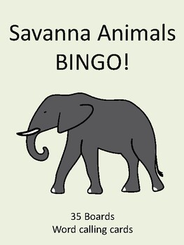 Savanna Animals BINGO!