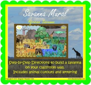 Savanna Safari Mural