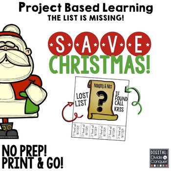 Project Based Learning Activity: Save Christmas!  A Holida