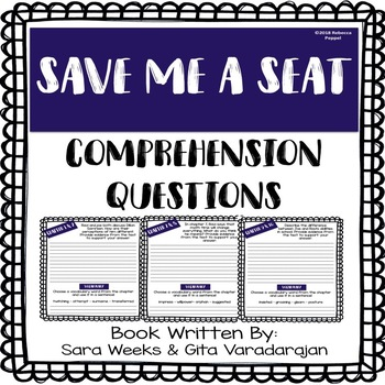 Save Me a Seat Comprehension Questions