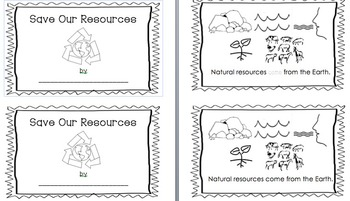 Save Our Resources- An interactive early reader to celebra