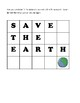 Save The Earth Word Game - Earth Day