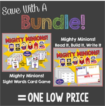 Save With a Bundle: Mighty Minions Sight Word Game & Read