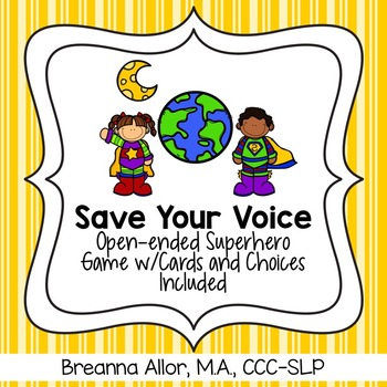 Save Your Voice - Game w/Questions & Choices
