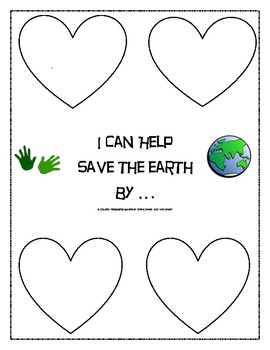 Save the Earth Printable