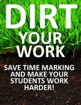 Save time marking while making it more worthwhile. DIRT yo