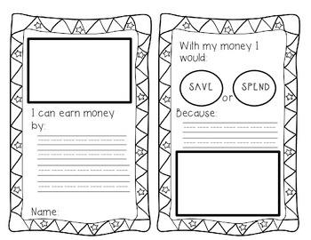 Save vs Spend Economics worksheet