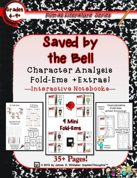 Saved by the Bell Character Analysis Mini Fold-Ems