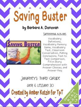 Saving Buster Supplemental Activities 3rd Grade Journeys U