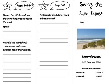 Saving the Sand Dunes Trifold - Treasures 3rd Grade Unit 3