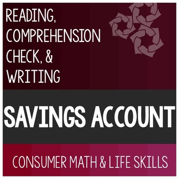 Savings Account Article- Consumer Math Special Education