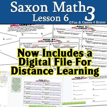 Saxon 3 (3rd Grade) Lesson 6 extension activity Measuring
