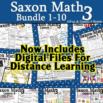 Saxon 3(3rd Grade)Lesson1-10 extension activities, morning