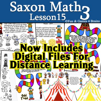 Saxon 3 (3rd grade) Lesson 9 Extension activity Even & Odd