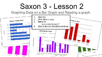 Saxon 3 Lesson 2 graphing - Interactive digital - paperles