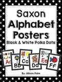 Saxon Phonics Alphabet Posters {black & white polka dots}