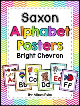 Saxon Phonics Alphabet Posters {bright chevron}
