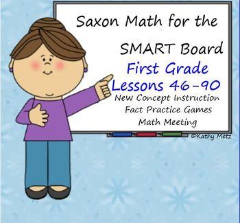Saxon Math for the SMART Board:  First Grade Bundle Lesson