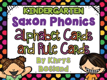 Saxon Phonics Alphabet Cards {Kindergarten Posters} {All R