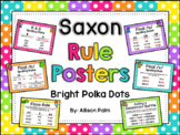Saxon Phonics Rule Posters {bright polka dots}