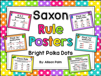 Saxon Phonics Rule Posters {bright polka dots}