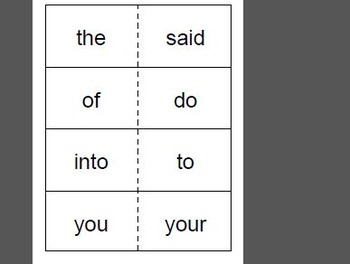 Saxon Phonics Sight Word Flash Cards (First Grade)