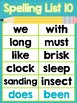 Saxon Phonics Spelling Word Posters {First Grade} {25 List
