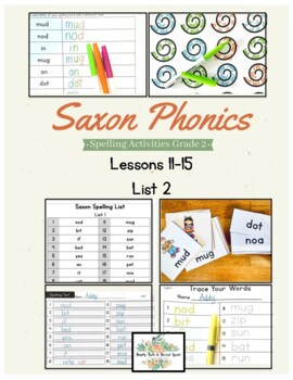 Saxon Phonics Weekly Spelling  Activity Pack Lessons 11-15