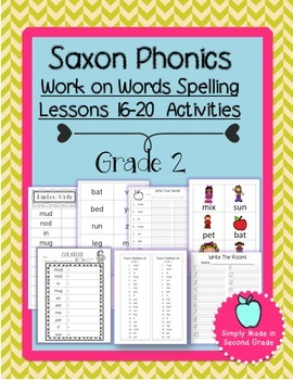 Saxon Phonics Weekly Spelling  Activity Pack Lessons 16-20