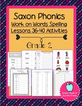 Saxon Phonics Weekly Spelling  Activity Pack Lessons 36-40