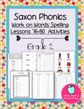 Saxon Phonics Weekly Spelling  Activity Pack Lessons 76-80