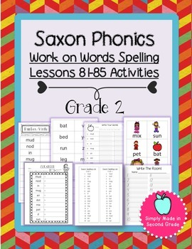 Saxon Phonics Weekly Spelling  Activity Pack Lessons 81-85