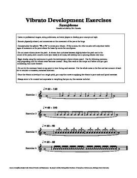 Saxophone Vibrato Exercises