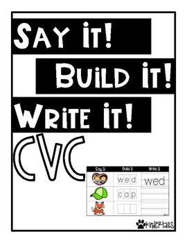Word Work Mats {CVC words}