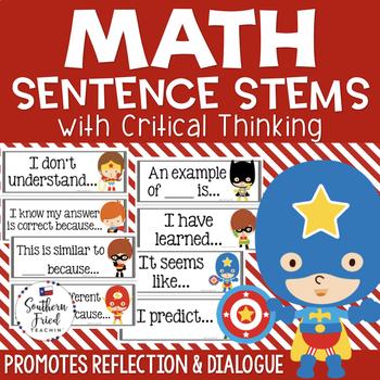 Math Critical Thinking Stems - Editable