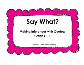 Say What? Inferencing Cards
