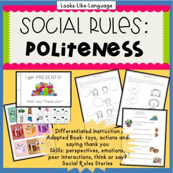 """Social Skills Activity: Saying """"Thank You"""" Interactive Boo"""