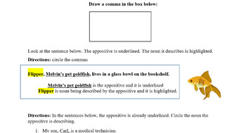 Scaffolded Appositive Phrases Worksheet