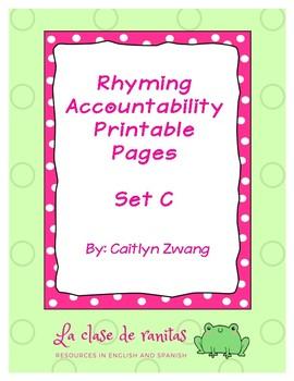 Scaffolded Rhyming Printables - Set C