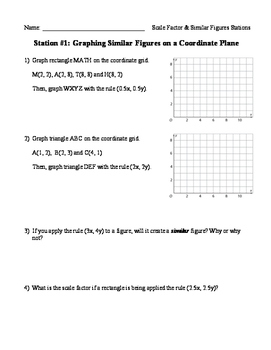 Scale Factor & Similar Figures Review Stations