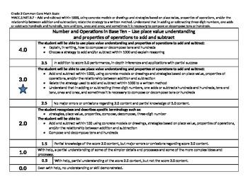 Scale – Math Common Core Standards Gr 2 MACC.2.NBT.B.7 Num