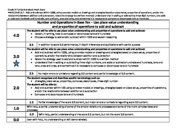 Scale – Math Florida Standards Gr 2 MAFS.2.NBT.2.7 Number