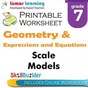 Scale Models Printable Worksheet, Grade 7