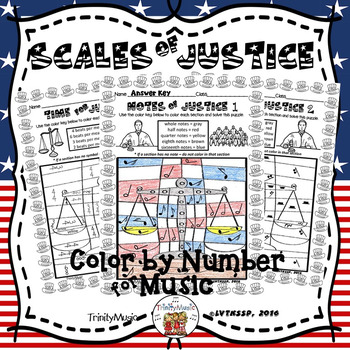 Scales of Justice Color By Number (Music)